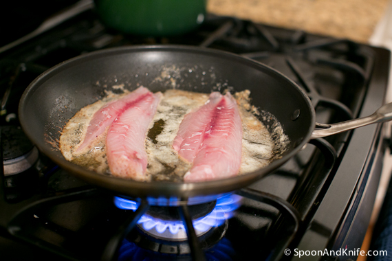 Vermilion Snapper in the pan