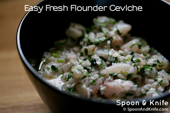 Easy Fresh Flounder Ceviche