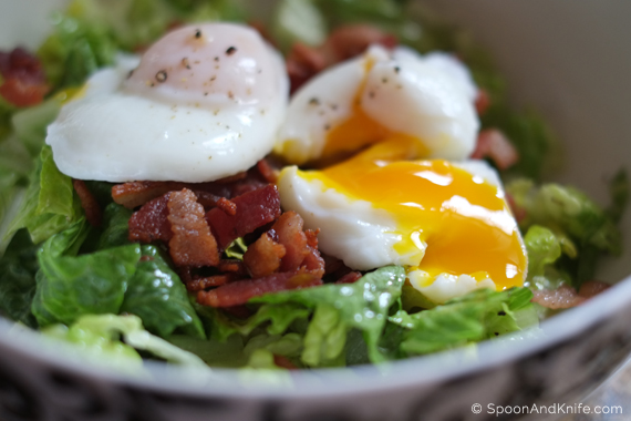 Poached Egg on Salad