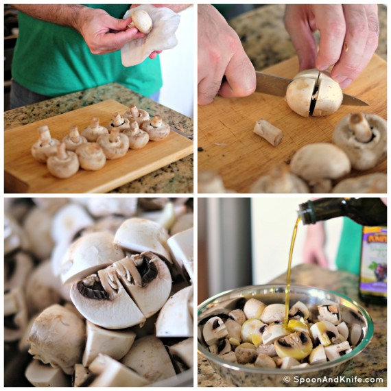 Preparing mushrooms - Spoon & Knife